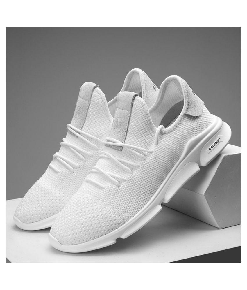 Nifandi Fashion Pure white 57 White Running Shoes