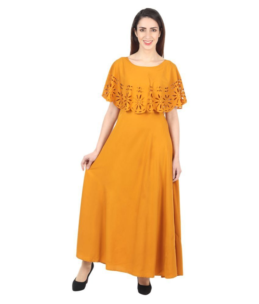 Oceanista Crepe Yellow A- line Dress