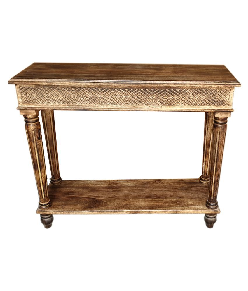 wooden solid table