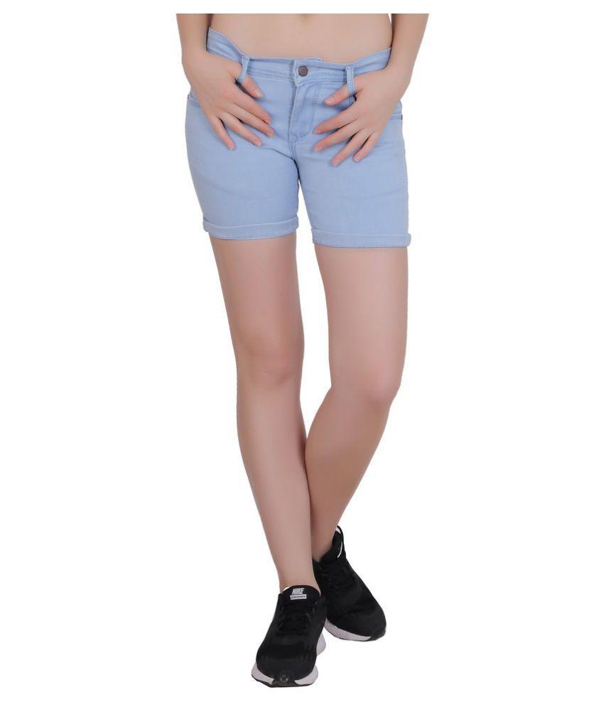 FORTH Denim Hot Pants - Blue