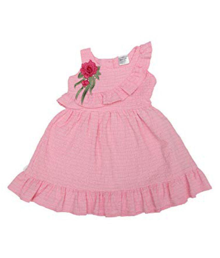 Girls Doodle Seesuccer Ruffle Sleeveless Dress