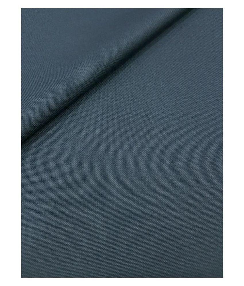 Grado Blue Poly Viscose Unstitched Pant Pc