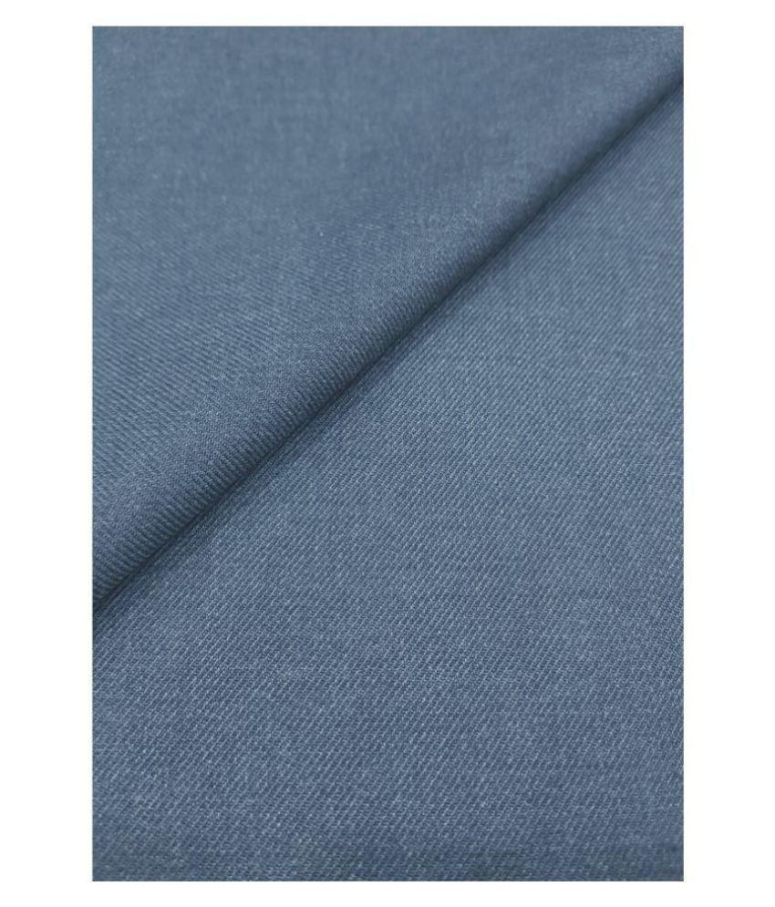 Grasim Blue Poly Viscose Unstitched Pant Pc