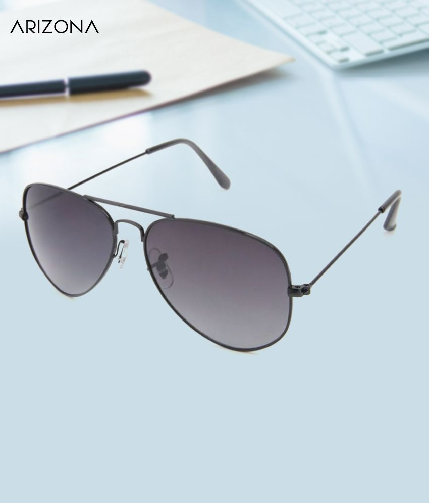 Arizona Sunglasses - Black Plastic (Polycarbonate) lens for Men & Women
