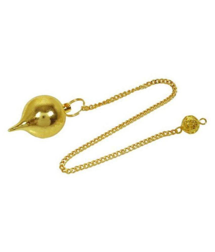 Gold Tone Tear Drop Dowsing Pendulum with Long Chain Reiki Healing Energy Generator