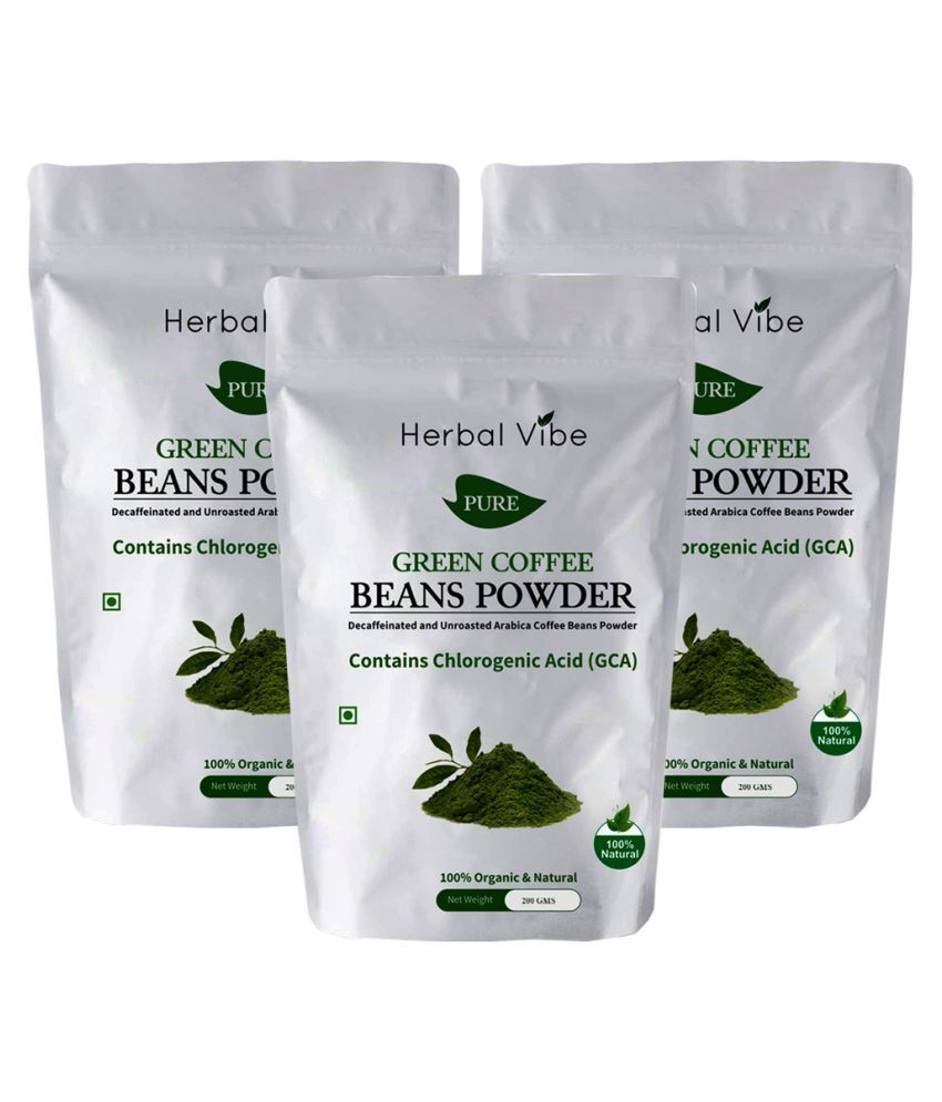 Herbal Vibe Green Coffee Powder 3 gm Natural Pack of 3