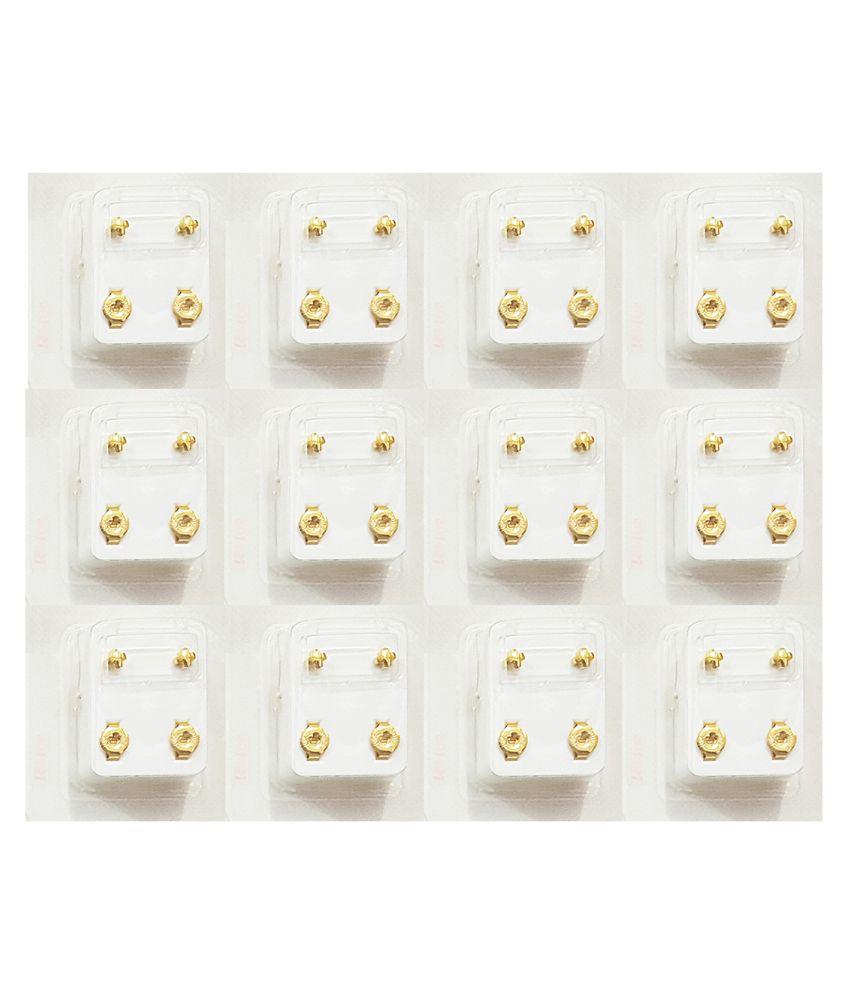 Studex Universal Regular Gold Plated 3MM Cross Ear Stud (12 Pair)