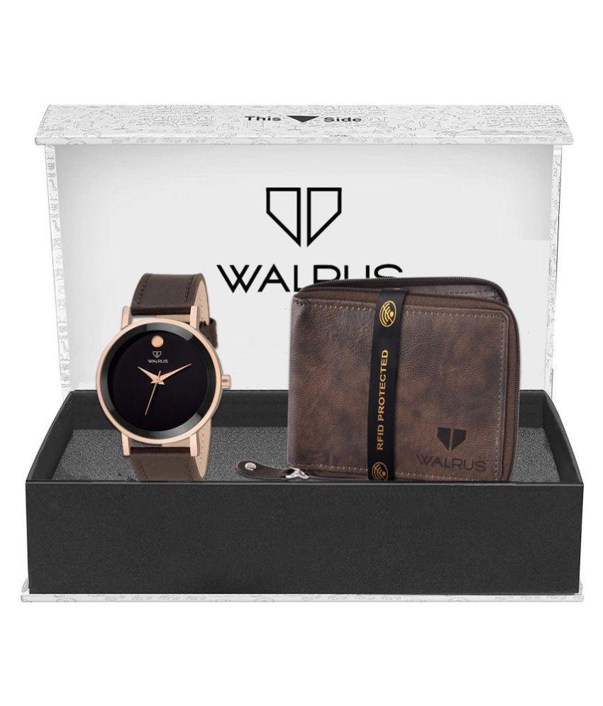 Walrus WWWC COMBO20 Leather Analog Men #039;s Watch