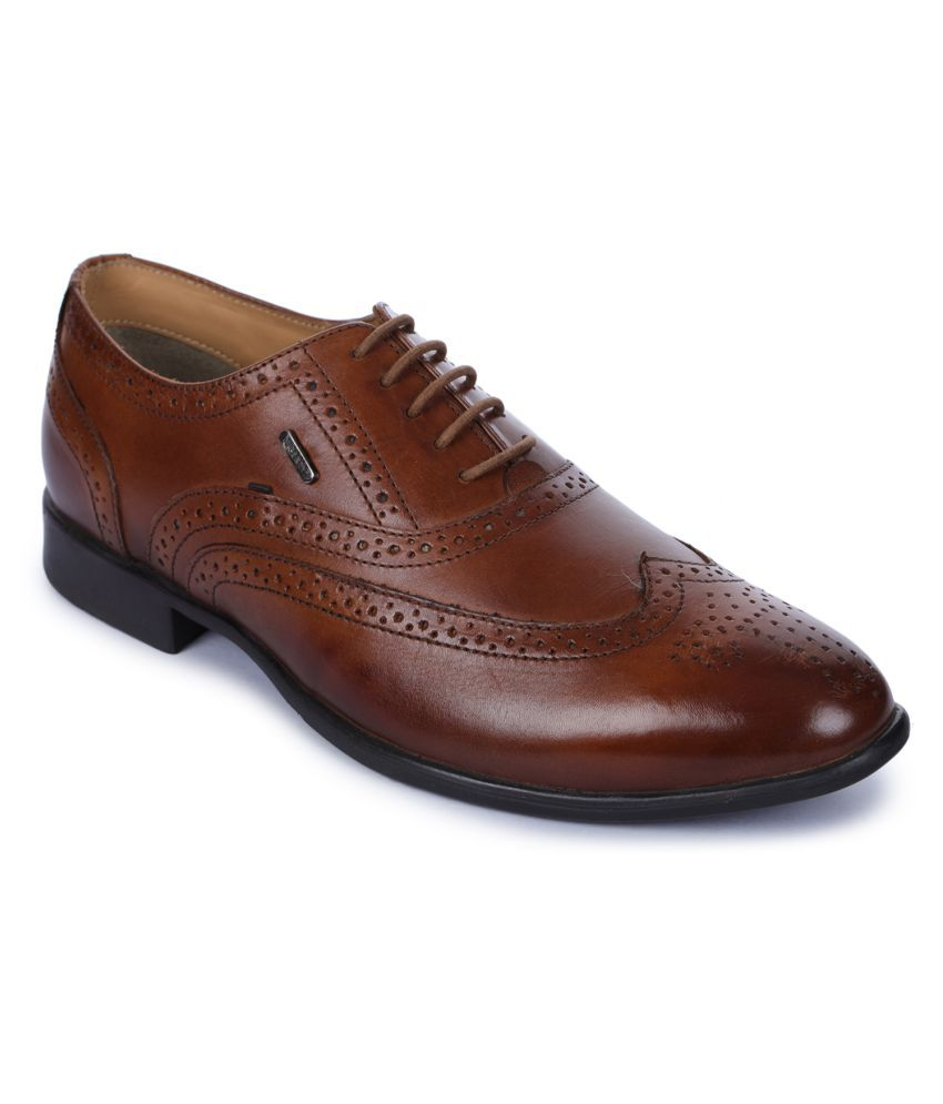 Liberty Derby Genuine Leather Brown Formal Shoes