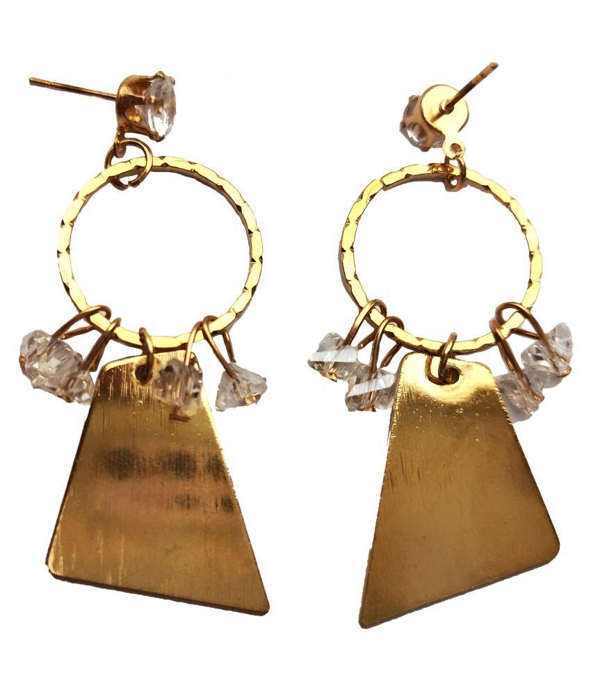 Manikya Latest Design Stylish Gold Plated Copper/Alloy Earrings For Girls/Women