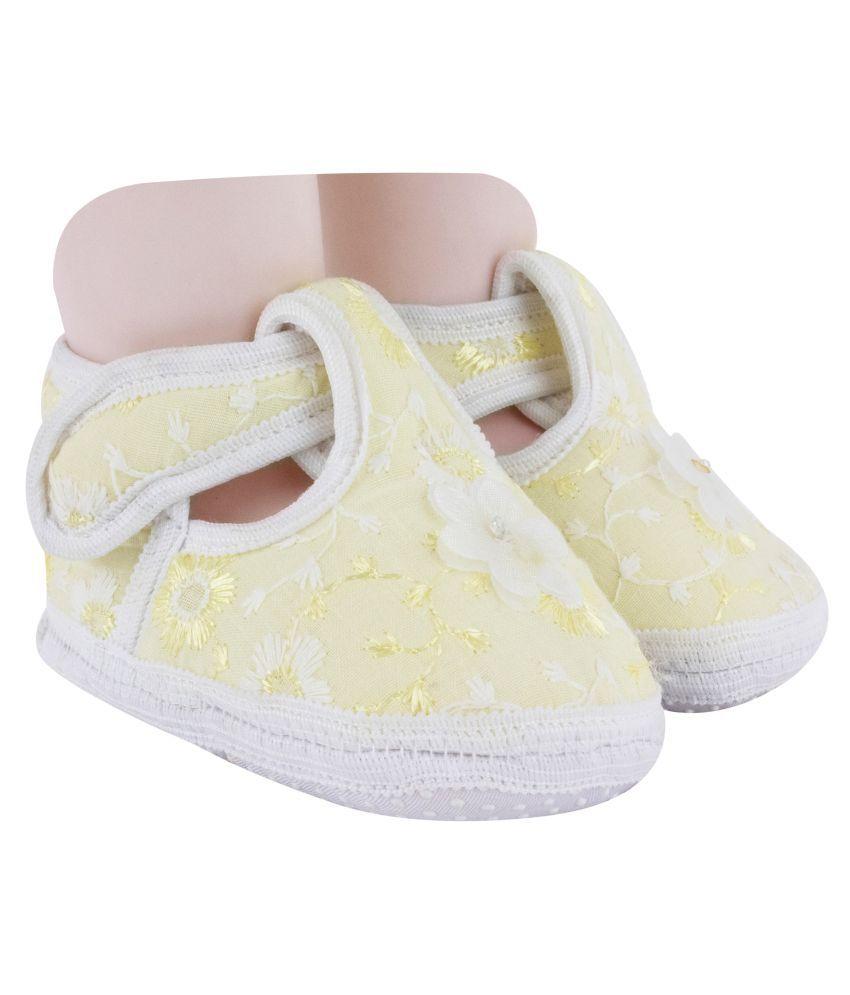 Neska Moda Baby Girls Booties for 6 To 12 Months (Yellow)