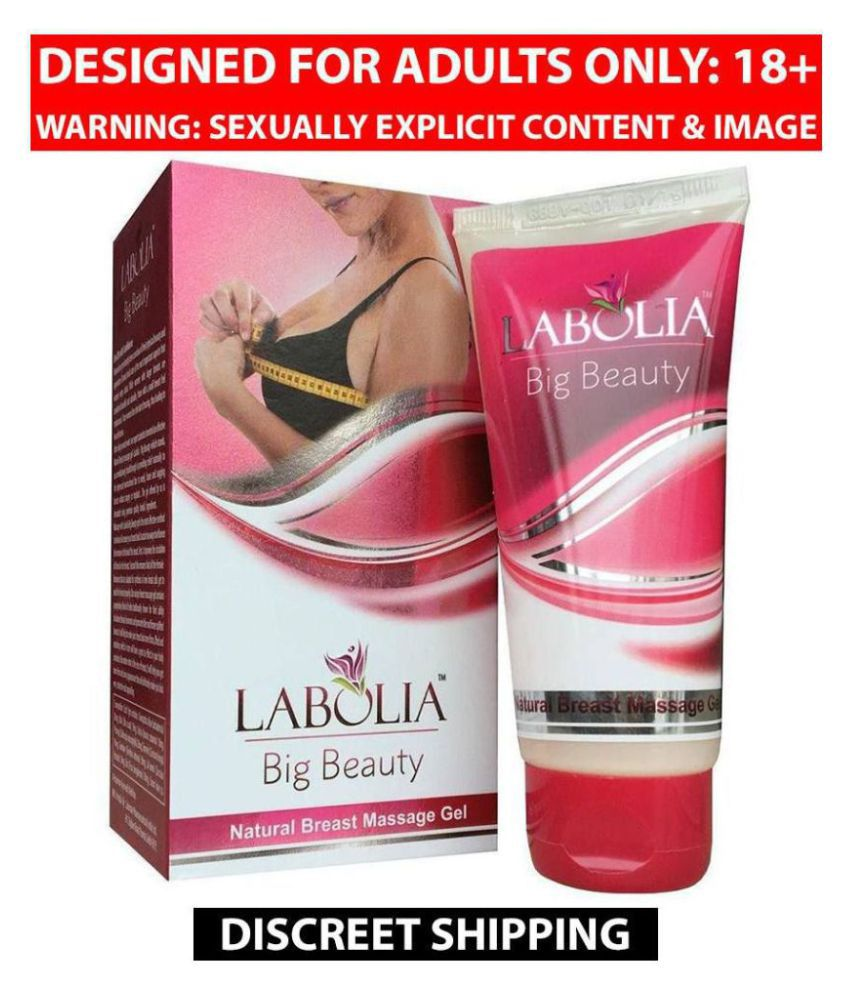 Organic Labolia Big Beauty Natural Breast Massage Gel, 50g Pack of 3 For Women, 100% Natural Product
