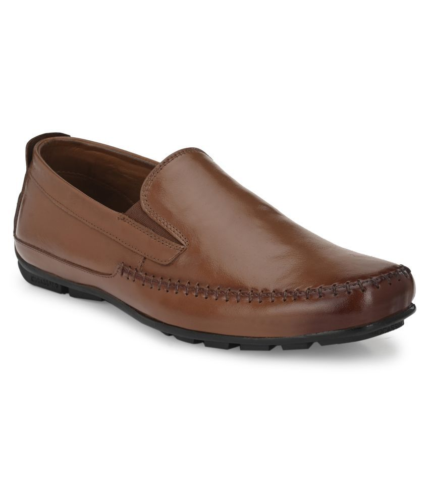AVANTHIER Party Genuine Leather Brown Formal Shoes