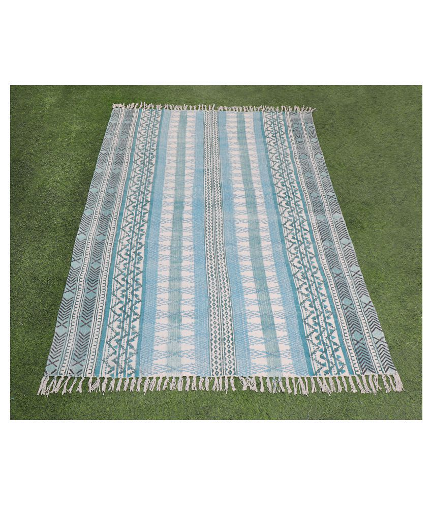 Bhavya International Assorted Cotton Carpet Geometrical 4x6 Ft