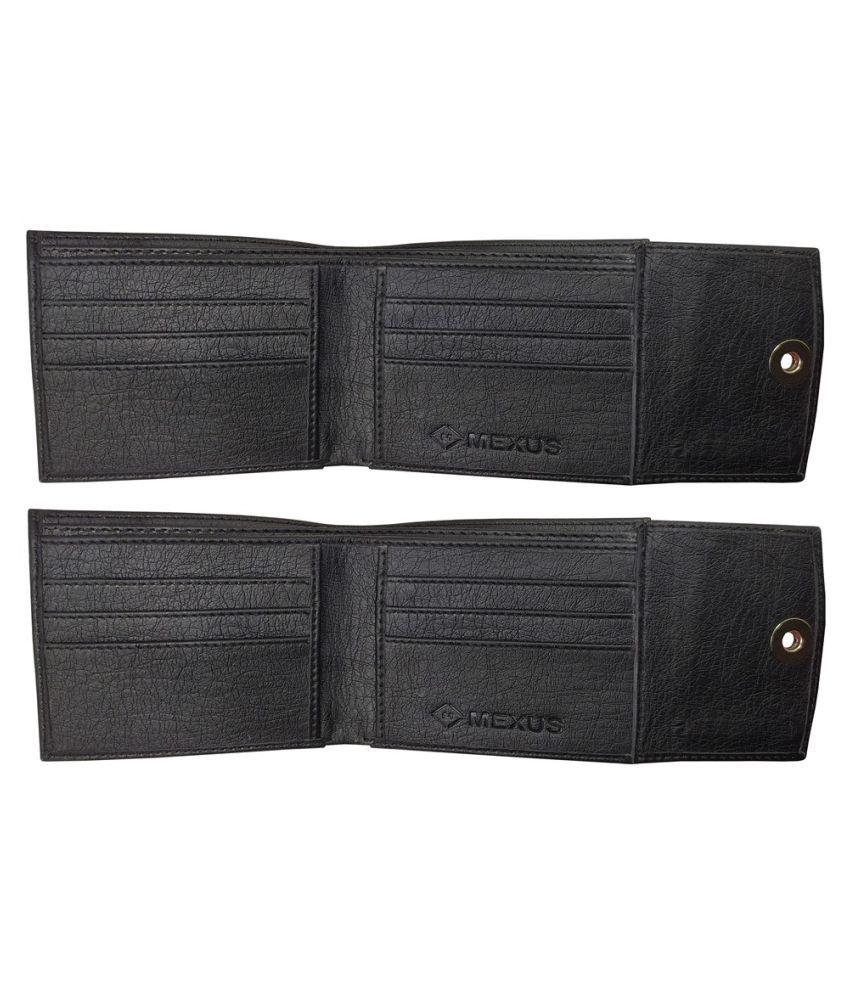 MEXUS Leather Black Fashion Regular Wallet