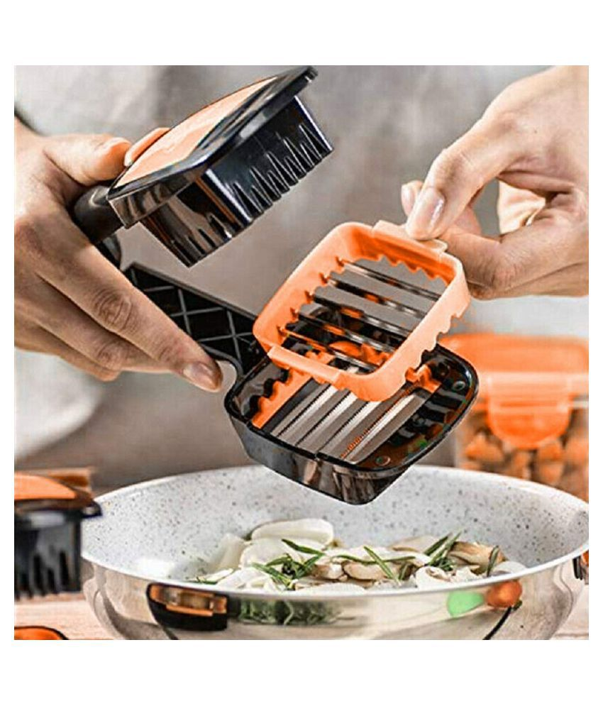 5 in 1 Multifunction Vegetable Cutter Manual Vegetable Quick Dicer Fruit Chopper Kitchen Essential