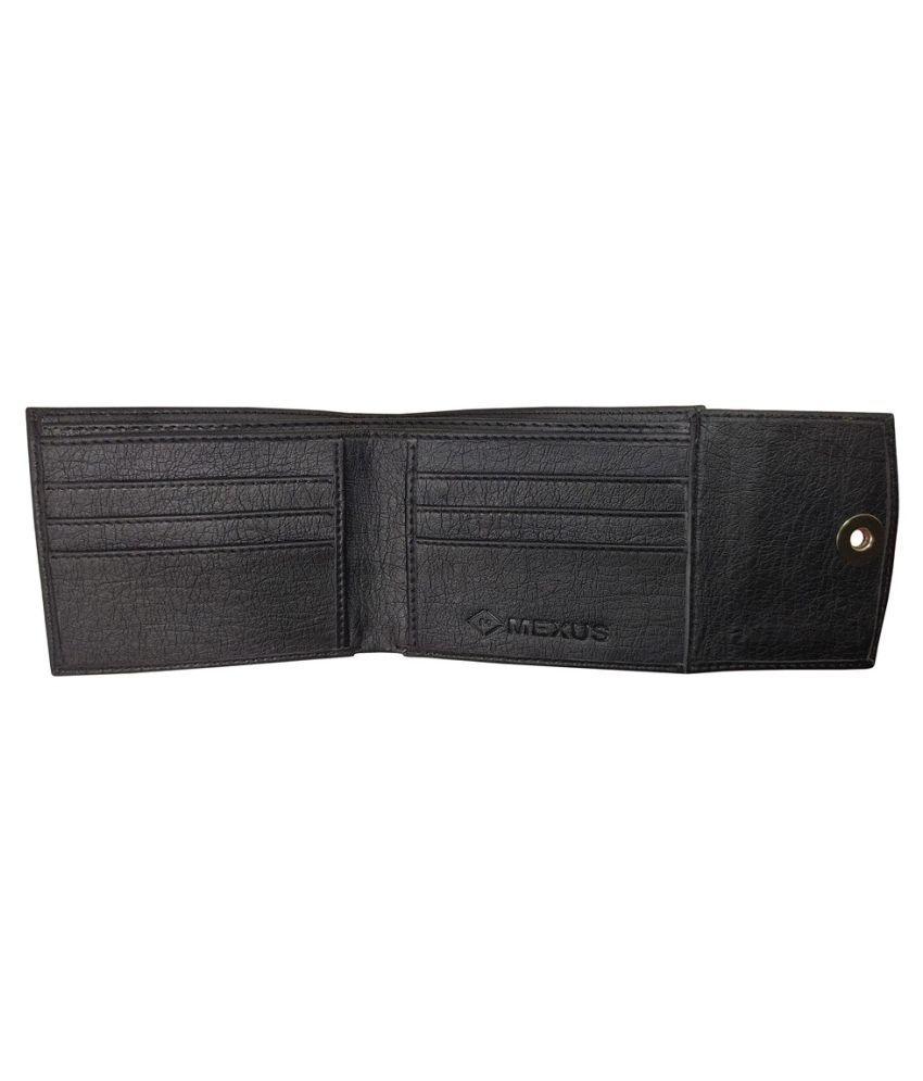 MEXUS PU Black Formal Regular Wallet