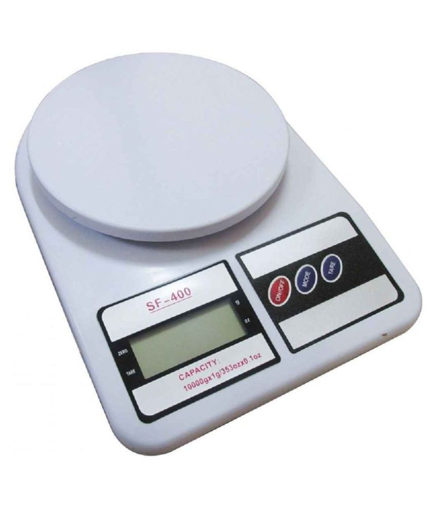 AapkieKart Electronic Kitchen Scale SF-400 with Back Light Display,capacity 10KG Virgin Plastic Measuring Scale