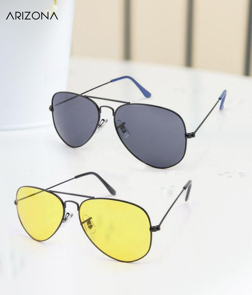 Arizona Sunglasses - Combo Pack (Pairs of 2 sunglasses ) - Plastic (Polycarbonate) lens