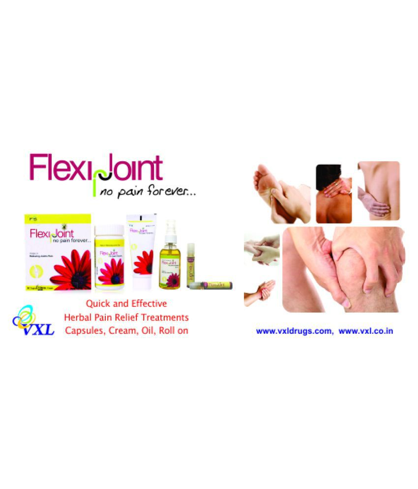 Flexi Joint Herbal Pain Capsule & Cream Pain Relief Pack Of 1