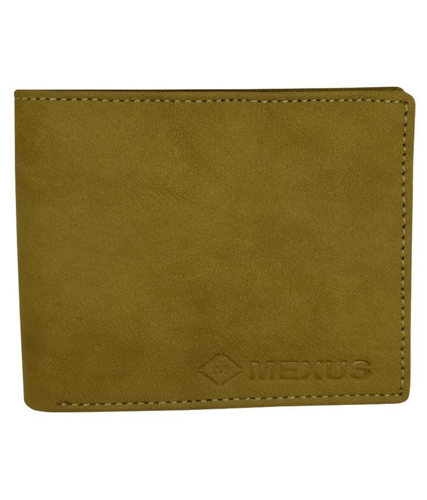 MEXUS PU Beige Fashion Regular Wallet