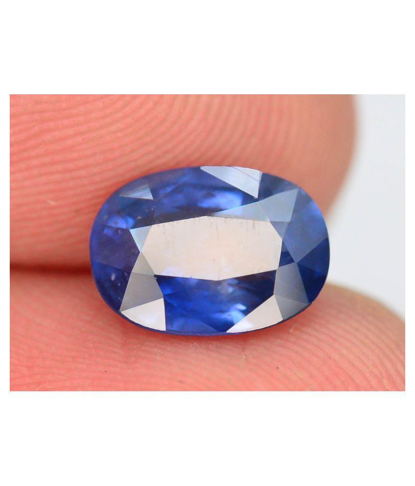 A1 Gems 7 - 7.5 -Ratti Self certified Blue Sapphire (Neelam)