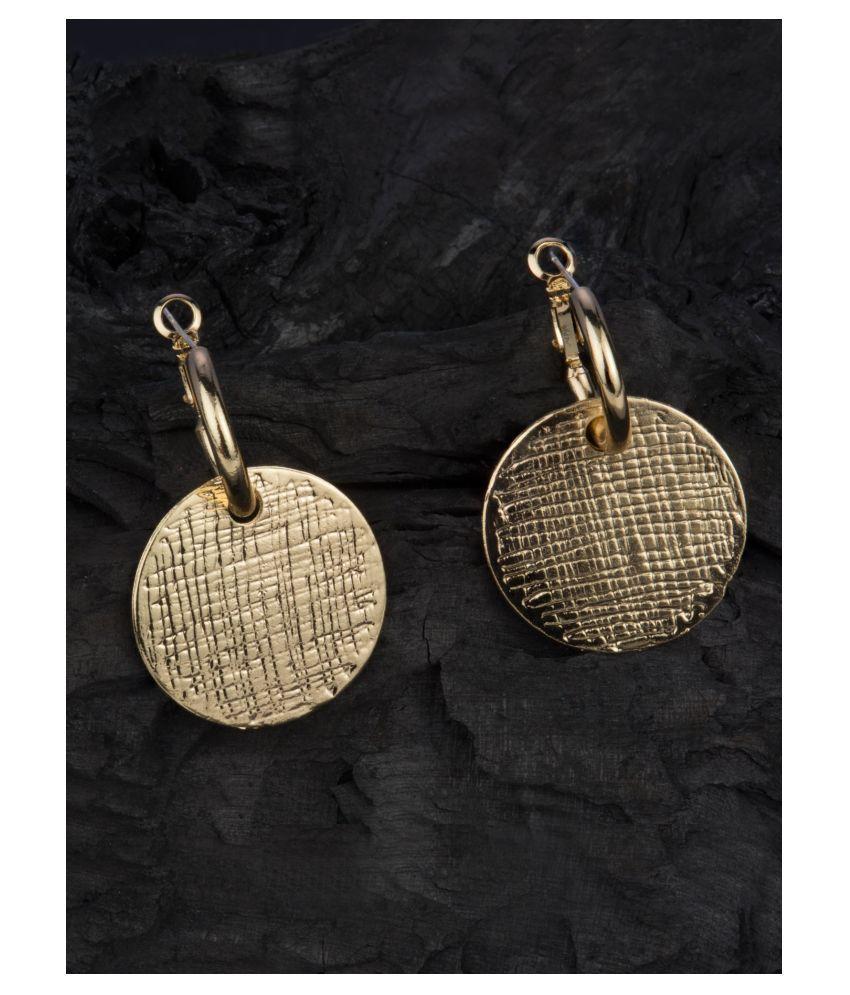 E2O Voguish Gold Platted Danglers Earrings