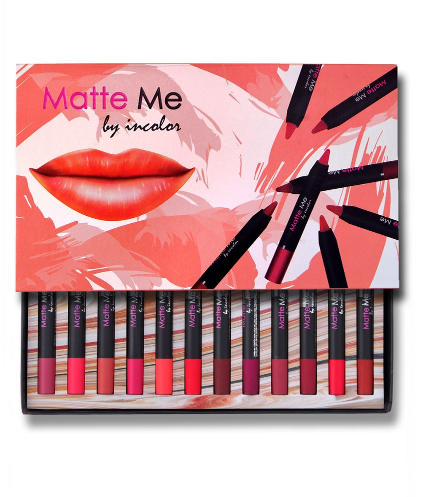 Incolor Lip Crayon PACK OF 12 Multi SPF 12 2.3 g