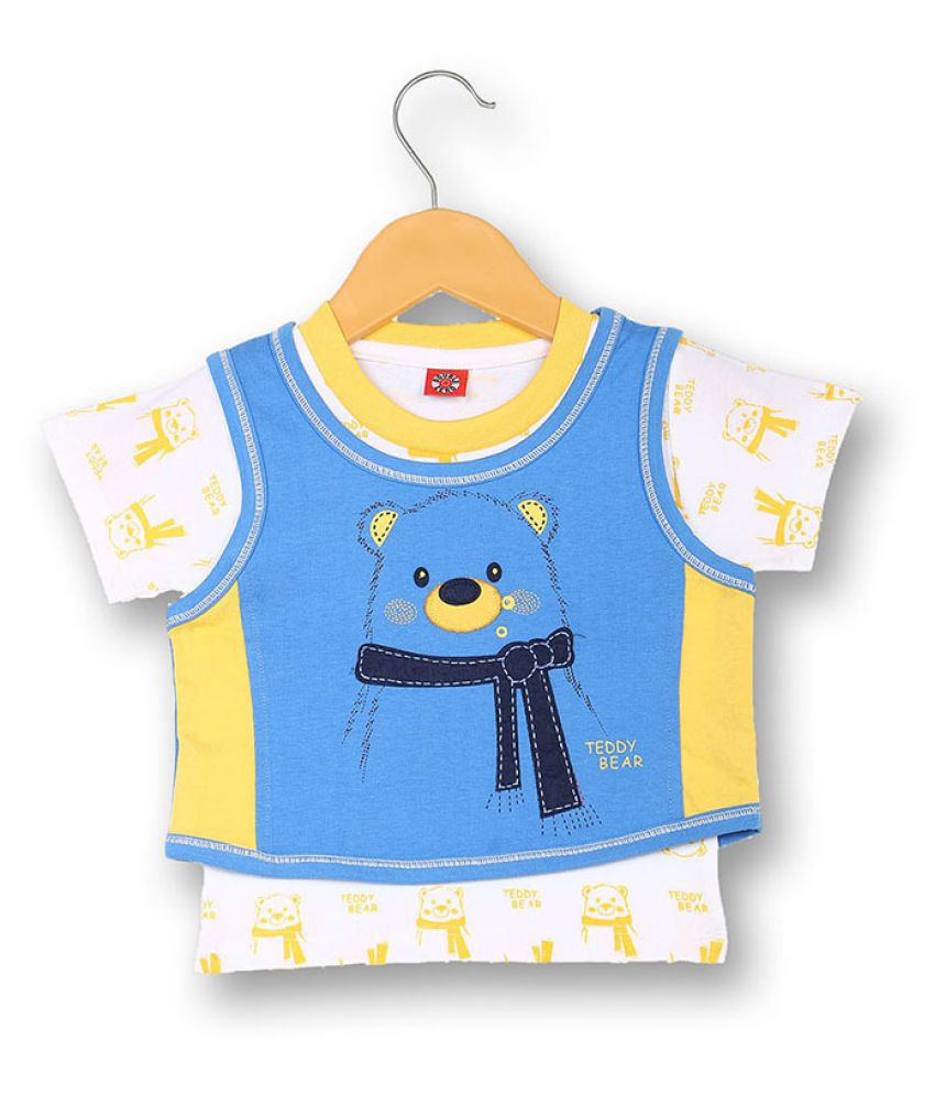V2 Infant Boy Baba Suit Set (Sky Blue)
