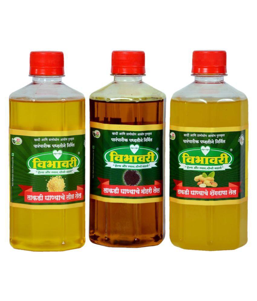 Vibhavari Seed oil 1.5 L Pack of 3