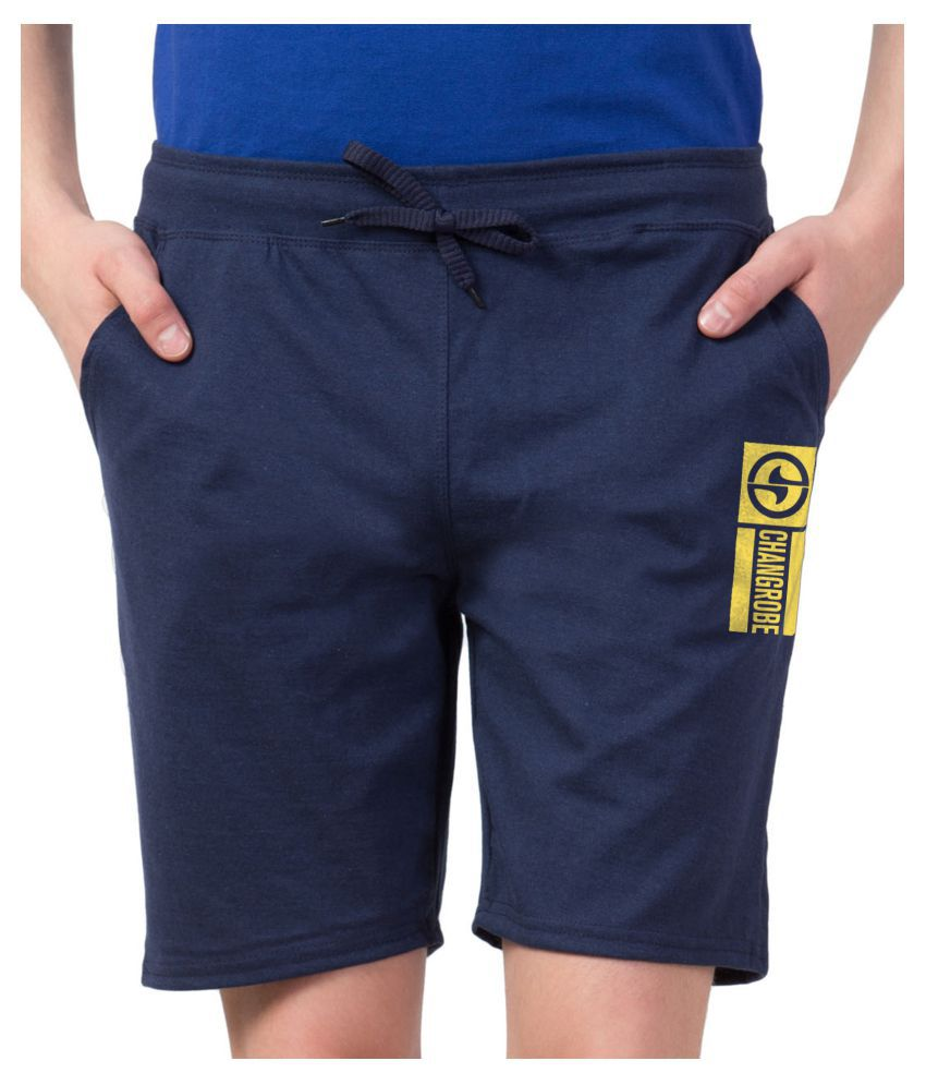Changrobe Navy Shorts Single