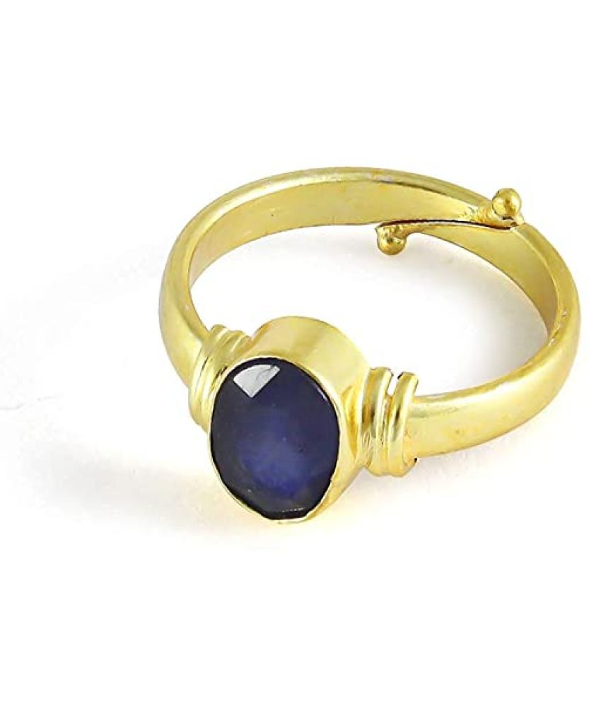 6.25 Ratti Certified Blue Sapphire Stone Neelam Ring for Men and Women