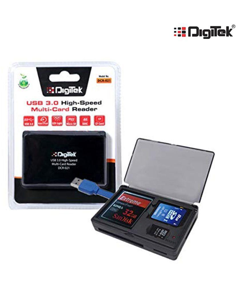 Digitek DCR 021 High Speed Black 3.0 Card Reader