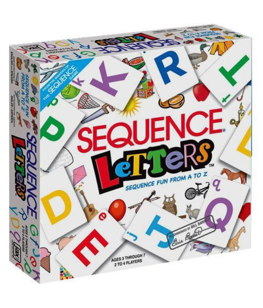 VBE Sequence Letters Board Game | an Exciting Card Game - Suitable for 4-7 Year Kids