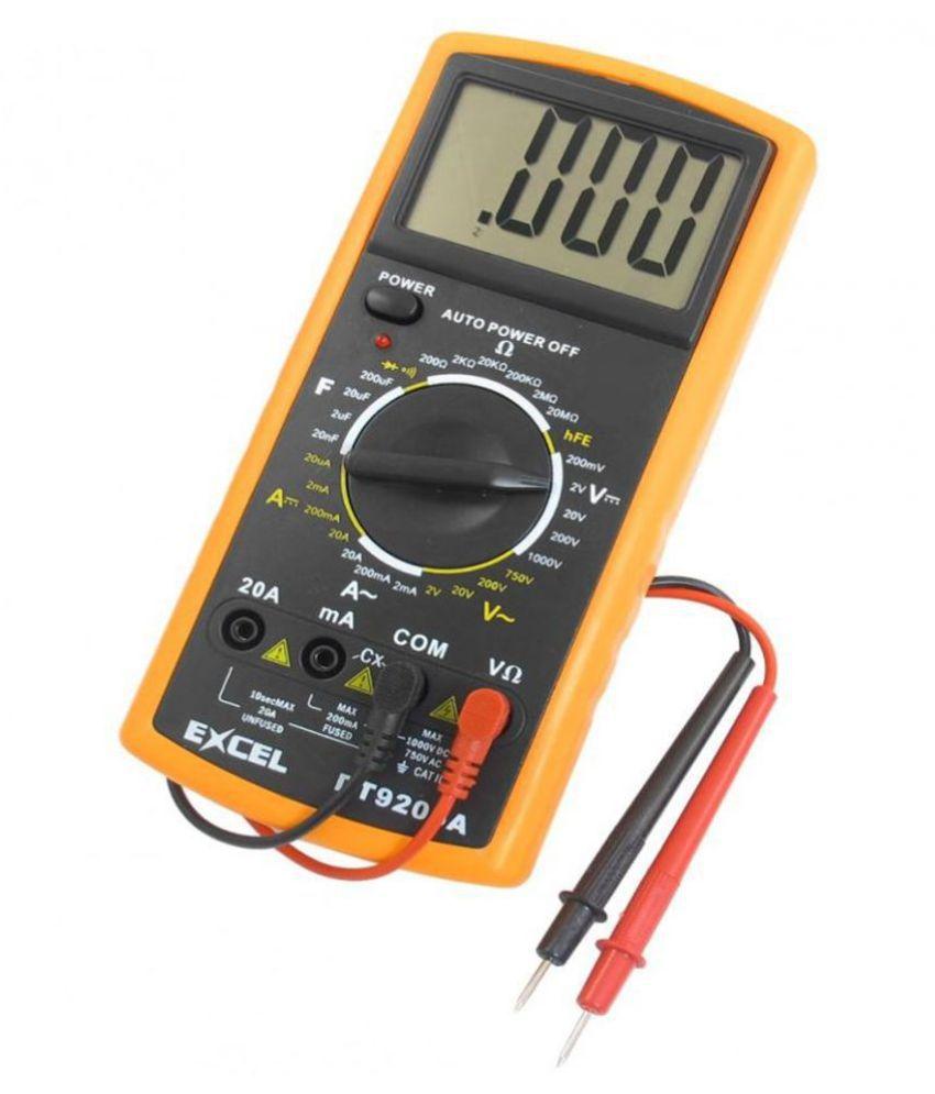 GA  Digital Multimeter For  Voltage, Resistance, Capacitance, Tester Digital Multimeter