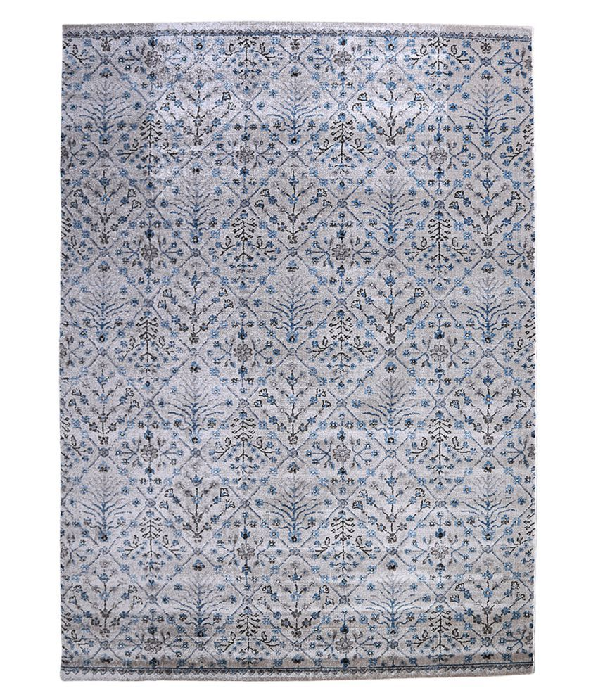 Obsessions Gray Polypropylene Carpet Contemporary 3x6 Ft