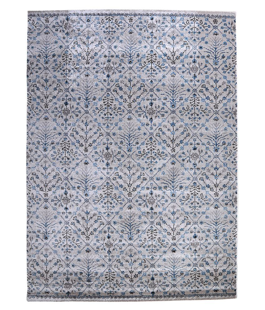 Obsessions Gray Polypropylene Carpet Contemporary 5x8 Ft