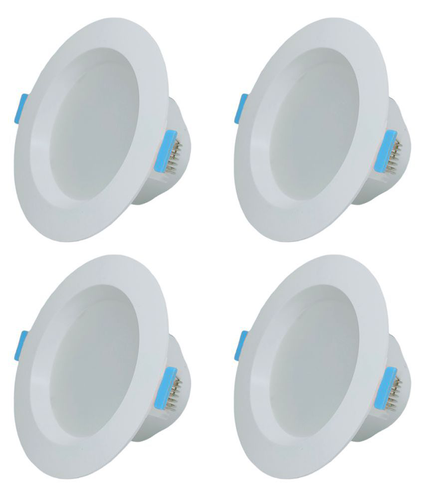 Raptors 7W Round Ceiling Light 11 cms. - Pack of 4