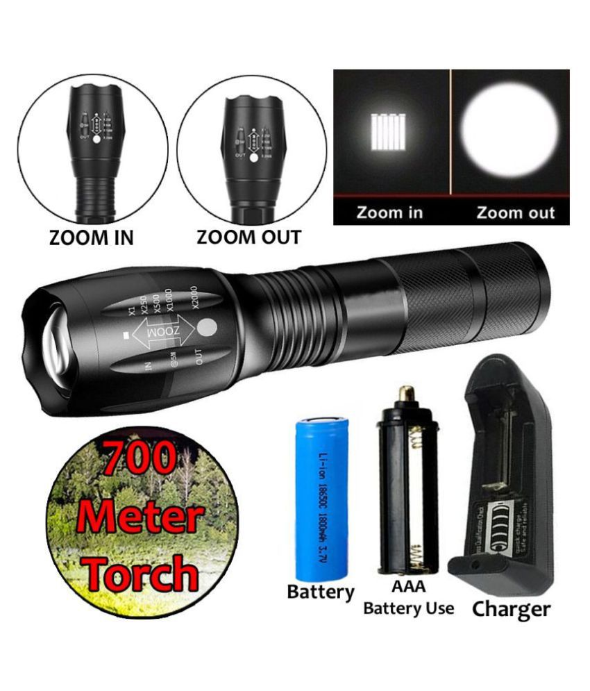 SS 15W Flashlight Torch 700mtr 5 Mode Torch - Pack of 1