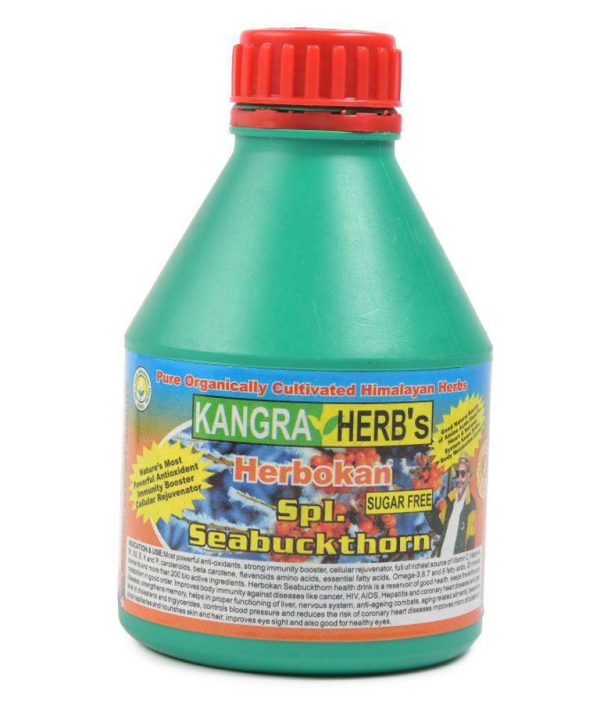 KANGRA HERB Spl. Sugar-Free Seabuckthorn Health Drink Liquid 500 ml Natural