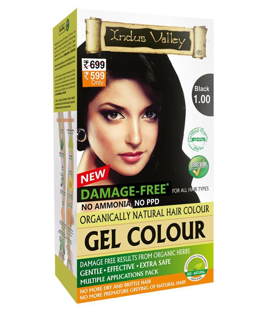 Indus Valley Permanent Hair Color Black Gel 220 g