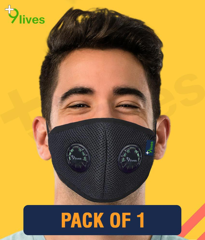 9lives 6 layer protection Reusable DN95 Anti-pollution Mask/Face cover - Pack of 1