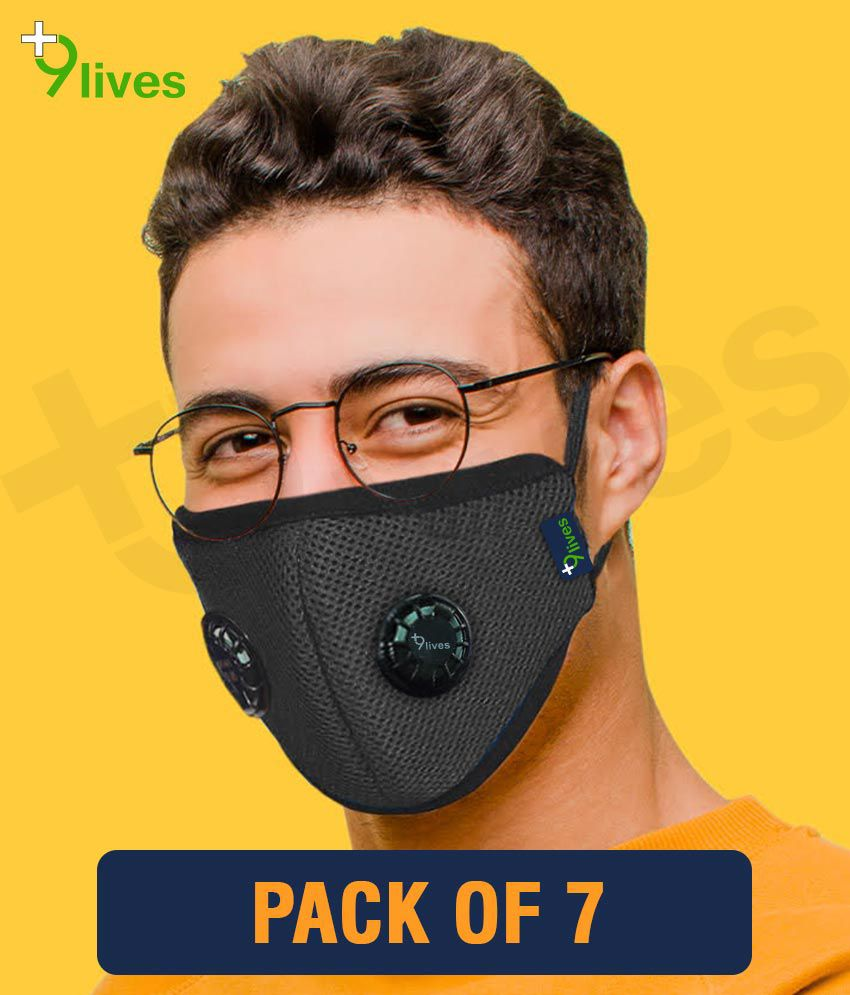 9lives 6 layer protection Reusable DN95 Anti-pollution Mask/Face cover - Pack of 7