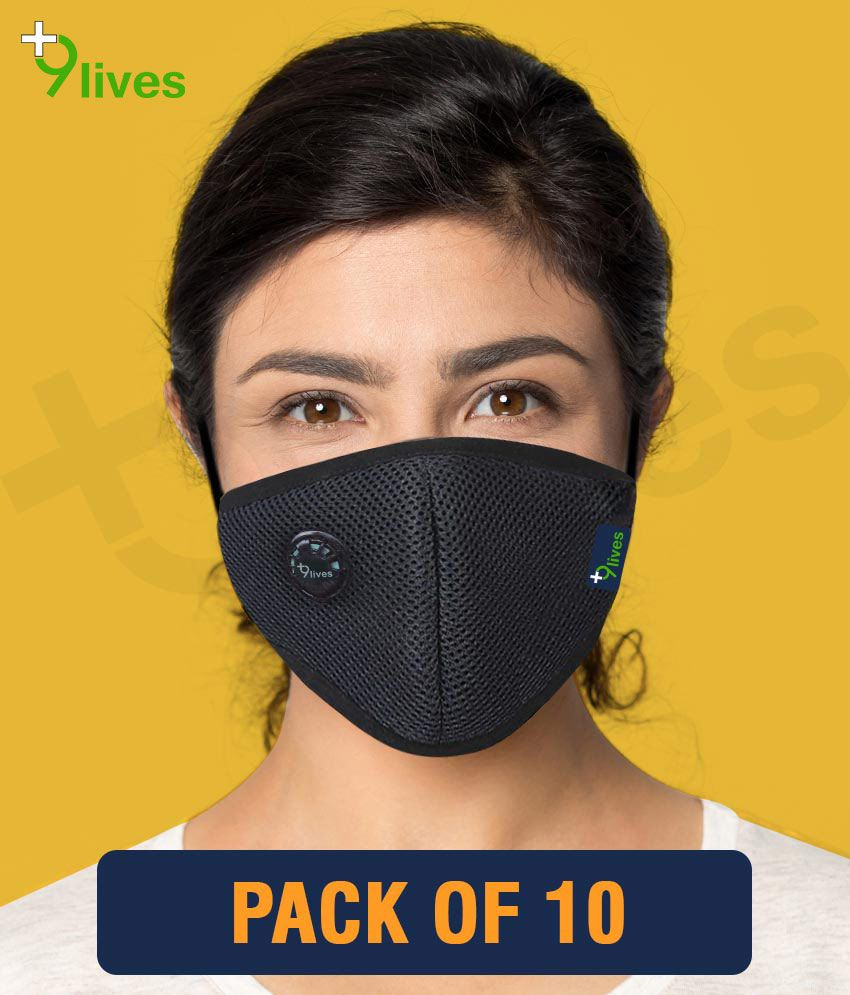 9lives 6 layer protection Reusable DN95 Anti-pollution Mask/Face cover - Pack of 10
