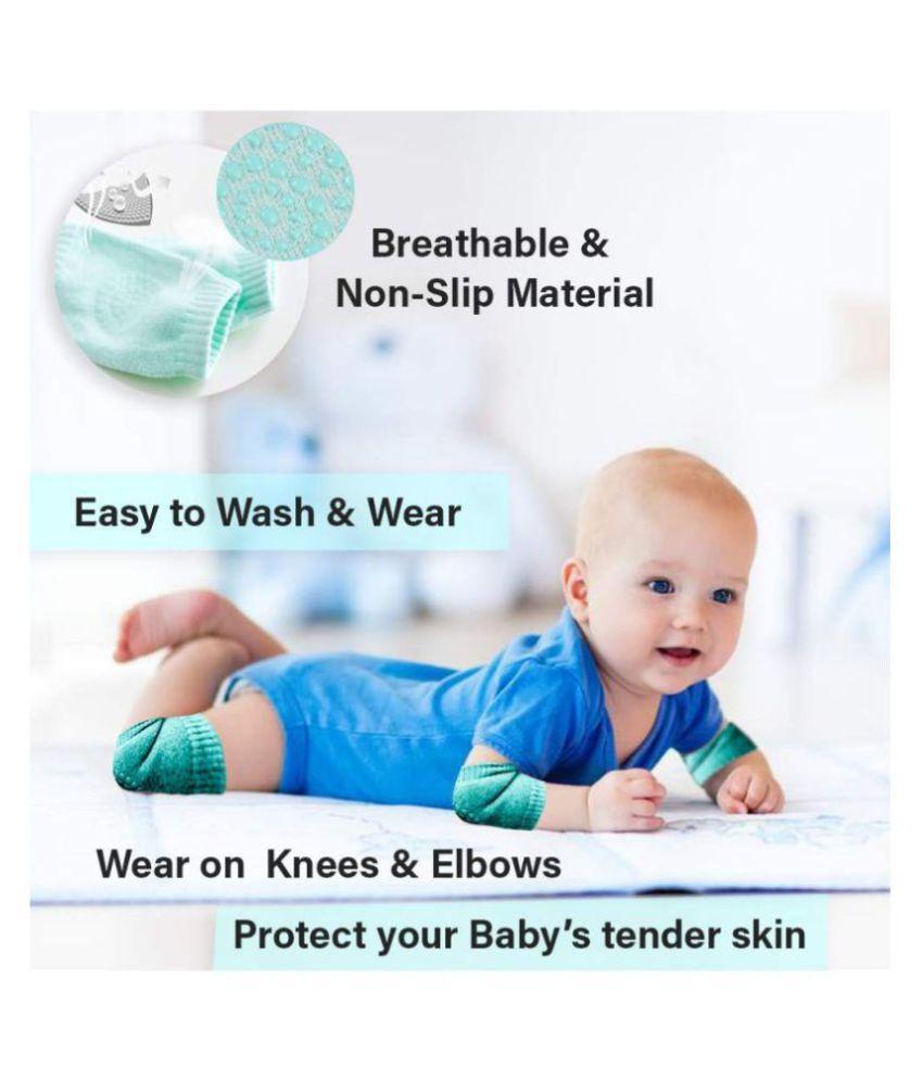 SHOPPING ZONE Multi-Colour Coton Baby Knee Pad 1 pcs