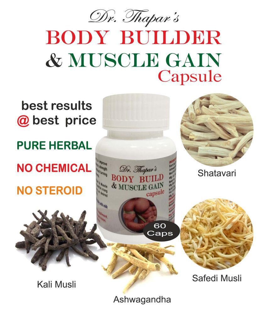 Dr. Thapar's BODY BUILDER & MUSCLE GAIN 60 Capsule 500 mg