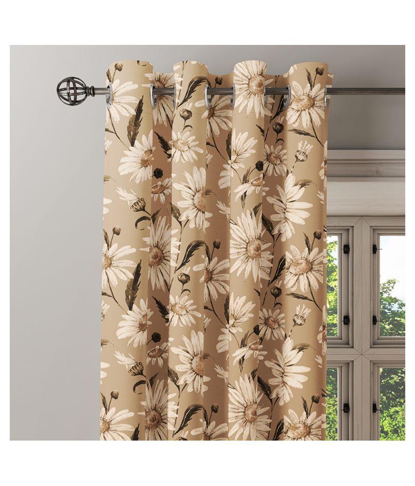 Ixora Decor Set of 2 Window Eyelet Cotton Curtains Cream