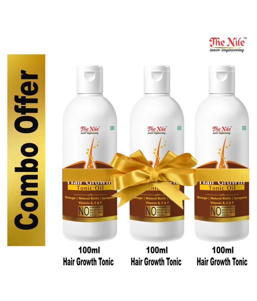 The Nile Hair Growth Tonic  100 ML X 3 300 ML  Hair Growth Oil 300 mL Pack of 3