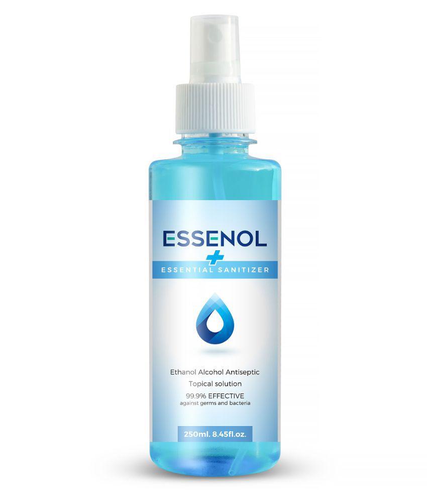 Essenol Spray , Pump , Fliptop Sanitizers 250 mL Pack of 2