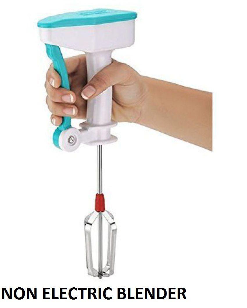 Stainless Steel Power Free Hand Blender & Cream Beater, Milkshake, Lassi, Butter Milk Mixer Maker